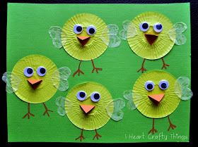 I HEART CRAFTY THINGS: Cupcake Liner Chicks