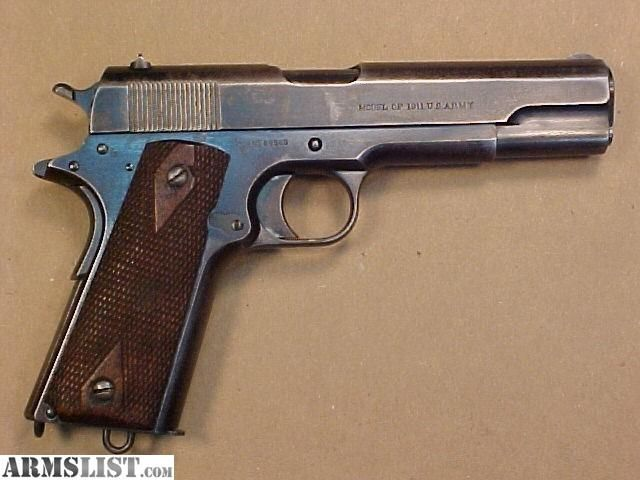 ARMSLIST - For Sale: Colt 45 1911(Pre WW1 US ARMY) Early 1914 original