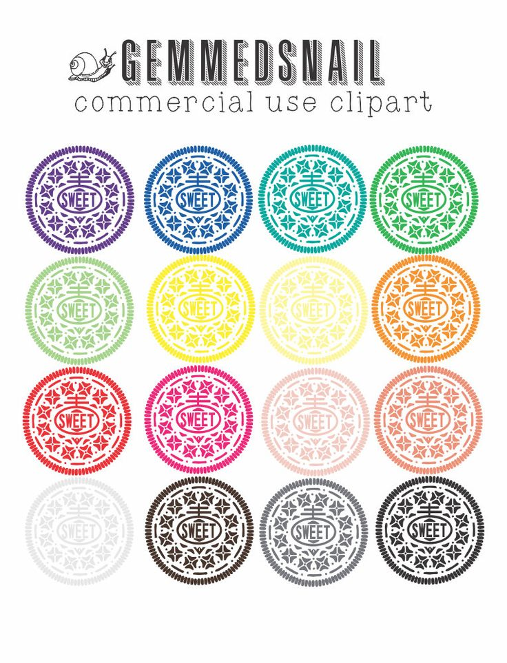 Cookie clipart, cookies that say 'sweet' Baking clipart, transparent png images