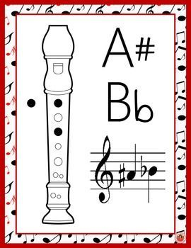 Recorder lessons     Recorder Fingering Charts       #musiceducation