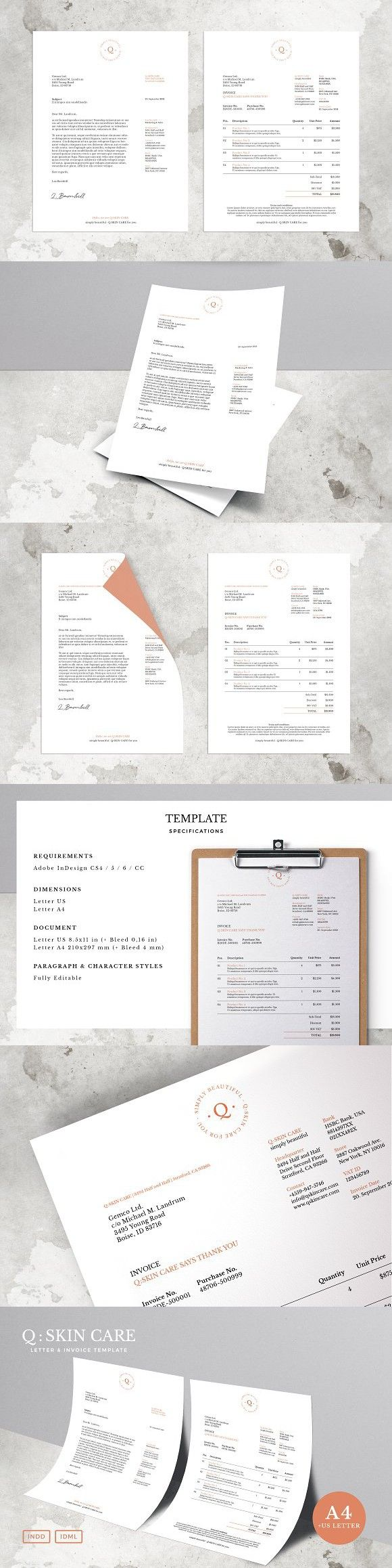 Q: Letter & Invoice Template. Stationery Templates