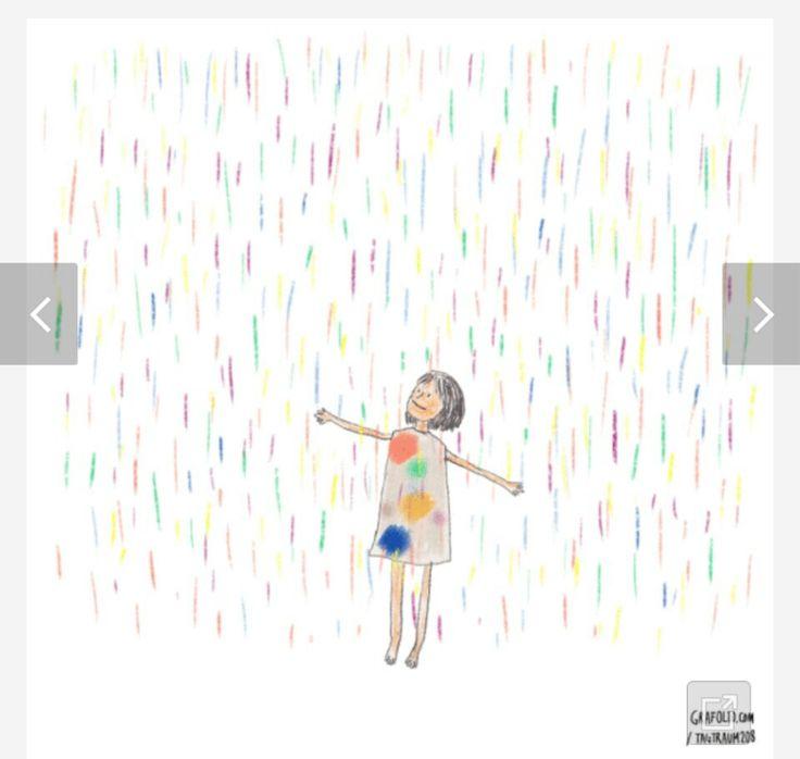 비오는날 파스텔소녀