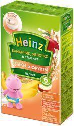 Хайнц Пудинг бананчик с яблочком в сливках с 6 мес. 200г  — 175р.  Пудинг Heinz – первое лакомство для малыша.   Пудинг содержит сливки инасыщен фруктами. Рекомендуется купотреблению наполдник.   Рис обладает высокой энергетической ценностью сочетании снизкой калорийностью, относится кгипоаллергенным злаковым продуктам. Имеет закрепляющее действие.     Пудинги Heinz    Для расширения рациона и разнообразия меню Heinz предлагает два вида пудингов…