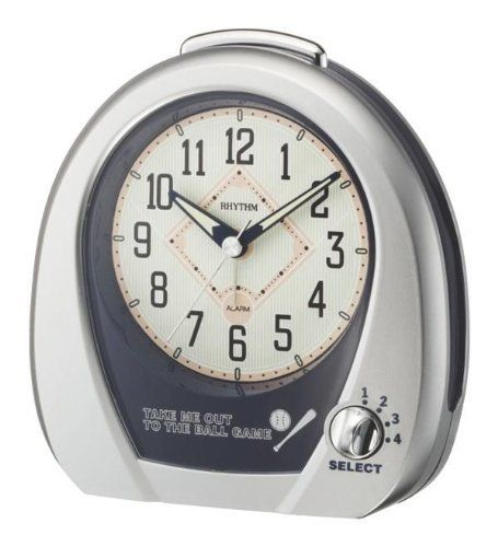 Rhythm Clocks Baseball Alarm  Model 4RM759WD19 ** Click image for more details.