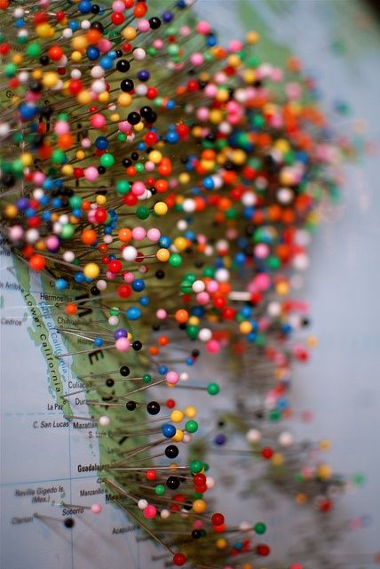 I want to do this or something like it to have a visual representation of places Iv'e been and want to go.