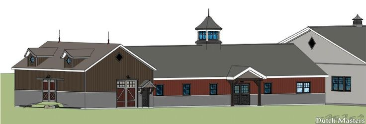Heritage-Look Stable Private facility in the Blue Mountains.  - Dutch Masters Construction Services specializes in the customized design and construction of horse facilities, barns and stables in Ontario.