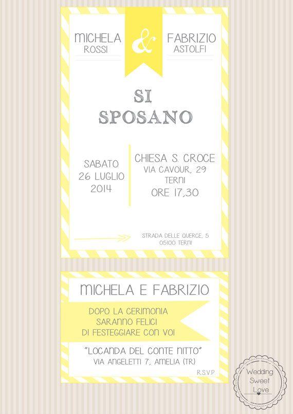 Partecipazione nozze + Invito ricevimento : Yellow Invitation Suite