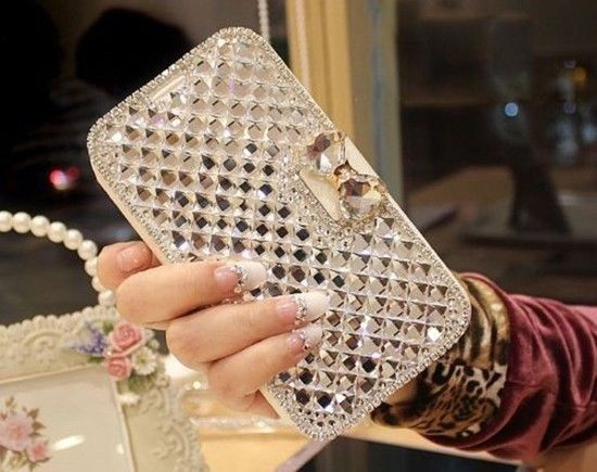 Samsung Galaxy S8 Case Luxury Bling Bowknot Crystal Diamond Wallet Flip Cover  | eBay