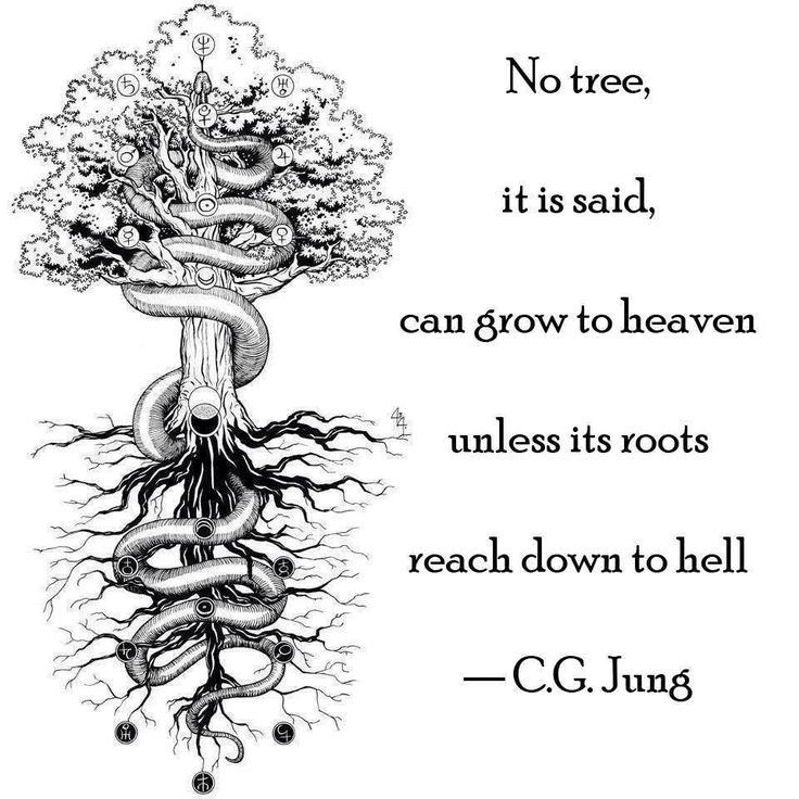 """No tree, it is said, can grow to heaven..."" Carl Jung #quote #fave"