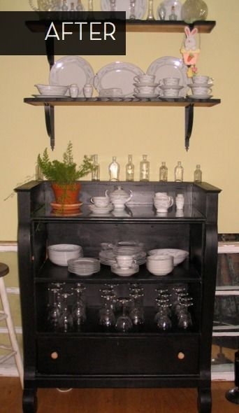 Brilliant Old Dresser Turned Bar Buffet