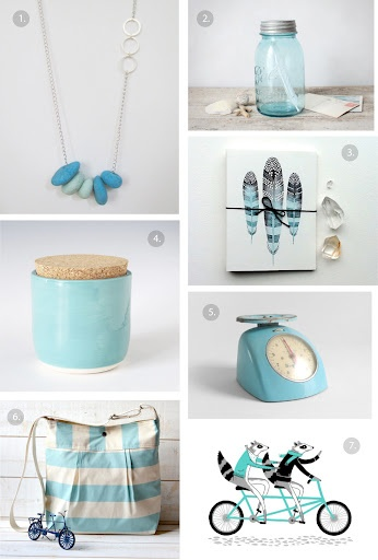 Shades of pale blue