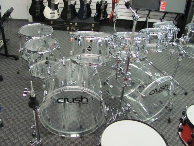 Vintage Drum Sets Double Bass | ... crush acrylic 10 piece clear double bass drum set design a wallpaper