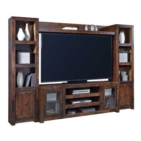 American Furniture Warehouse - Alder Grove Wall Unit, Tobacco