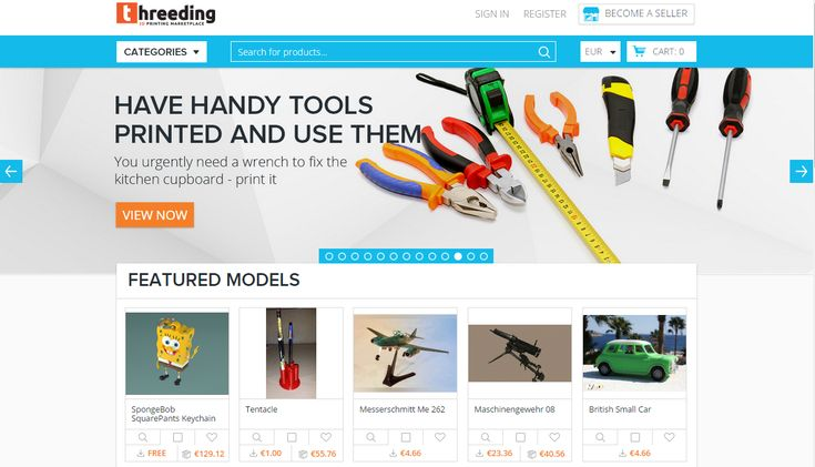 Threeding and Sculpteo Sign Pact to Deliver Catalog of 3D Models for Printing