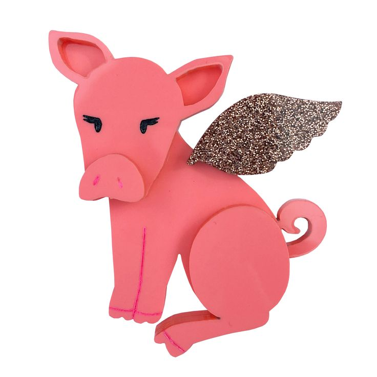 PIGGY SUE brooch by Louisa Camille