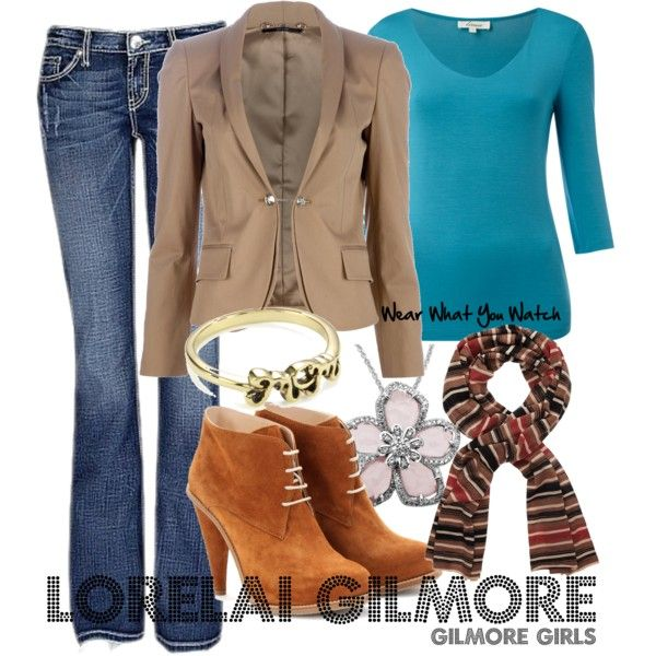 Inspired by Gilmore Girls character Lorelai Gilmore played by Lauren Graham from 2000-2007.