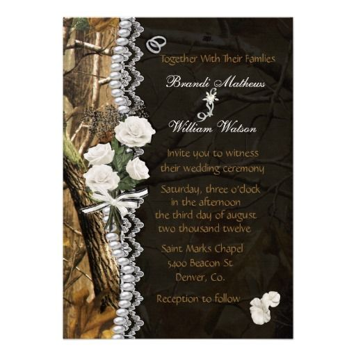 camophlage wedding | white roses camo wedding invitations mossy oak camo white roses white ...