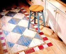 110 best painted floors and rugs images on pinterest - Painted Kitchen Floor Ideas