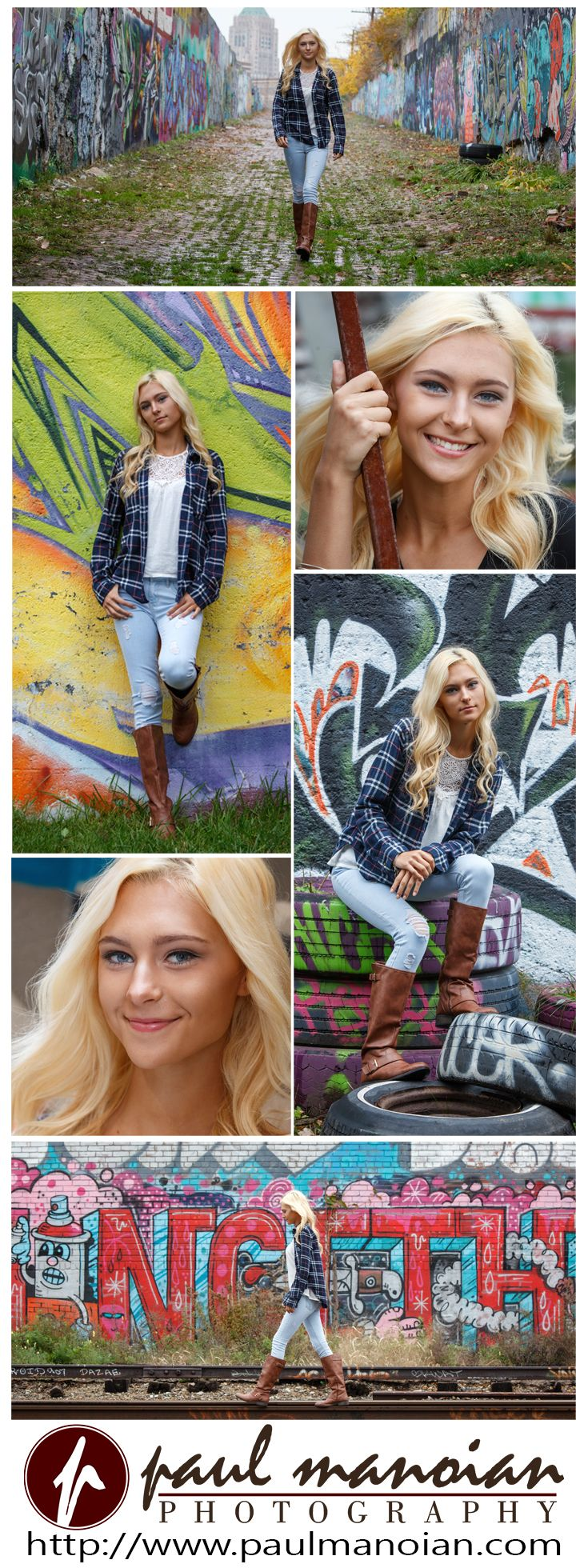 Beautiful senior pictures pose ideas for girls with graffiti - Best Graffiti Senior Portraits - Detroit Photographers