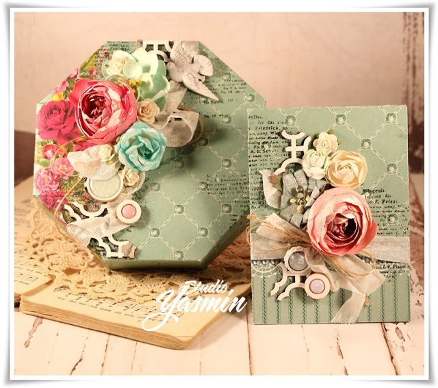 Studio Yasmin: Hexagon box and Envelope - DT Scrapberry's
