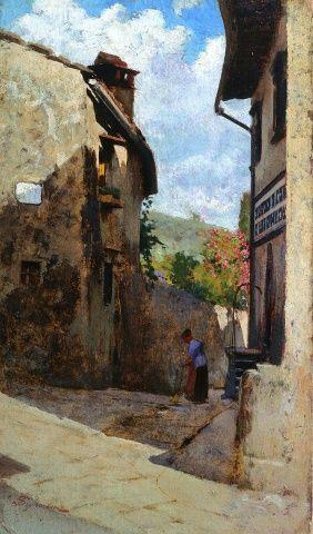 Telemaco_Signorini__Strada_a_Pozzolatico__