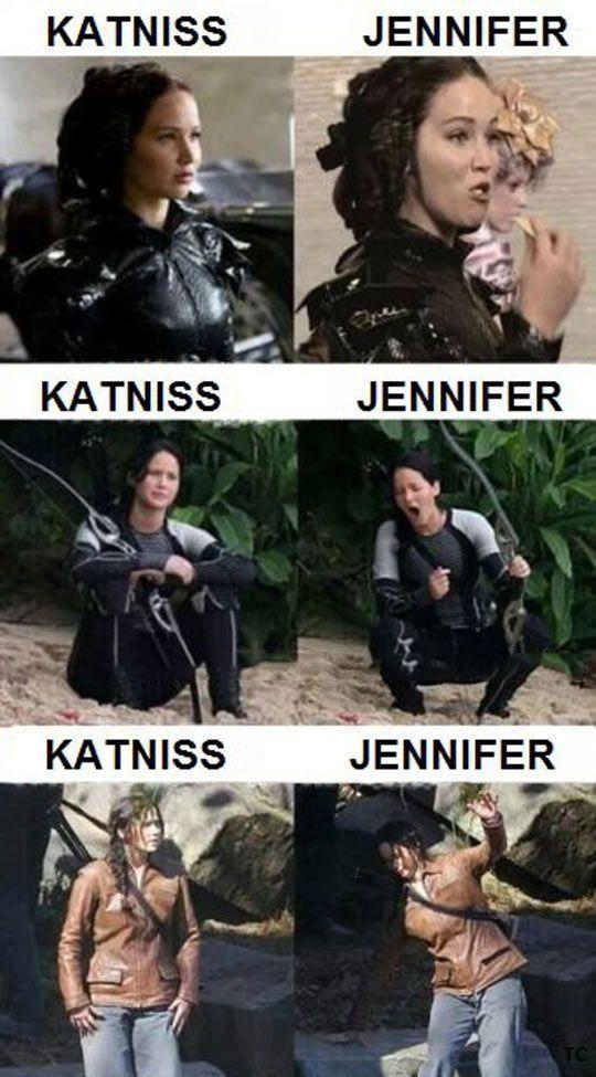 true. Jennifer Lawrence behind the scenes lol