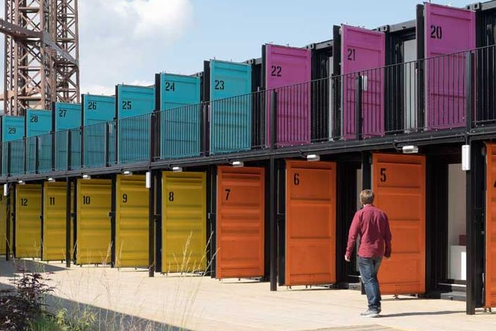 In the trend of the modern workspace, Containerville is a startup space of upcycled shipping containers launched in London.