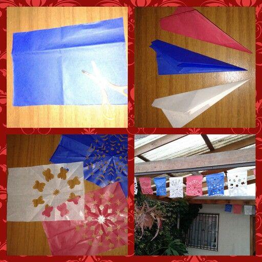 Fiestas patrias. Craft idea for chile's birthday