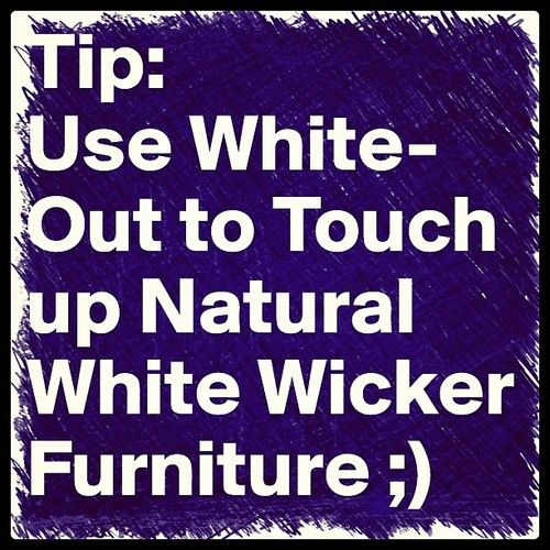 Use White-Out to instantly touch up your #white #wicker #furniture wickerparadise.com