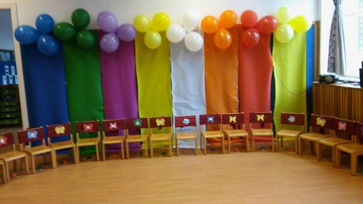dekor, székeken a csoport jele vagy a gyerekek jele