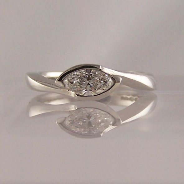 marquise cut crossover - Marquise Cut Engagement Rings - Ring Jewellery