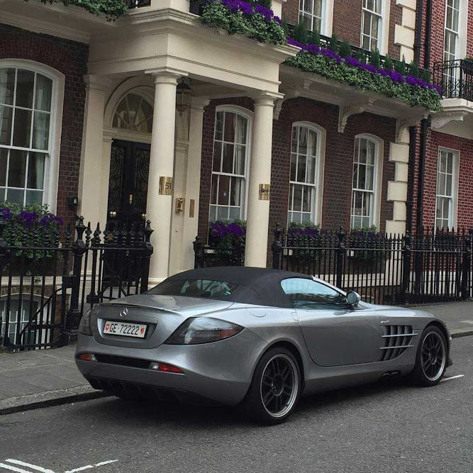 Mercedes-Benz SLR Mclaren 722s Roadster in London #Mercedes_Benz #Mercedes #MercedesBenz #AMG #S_class