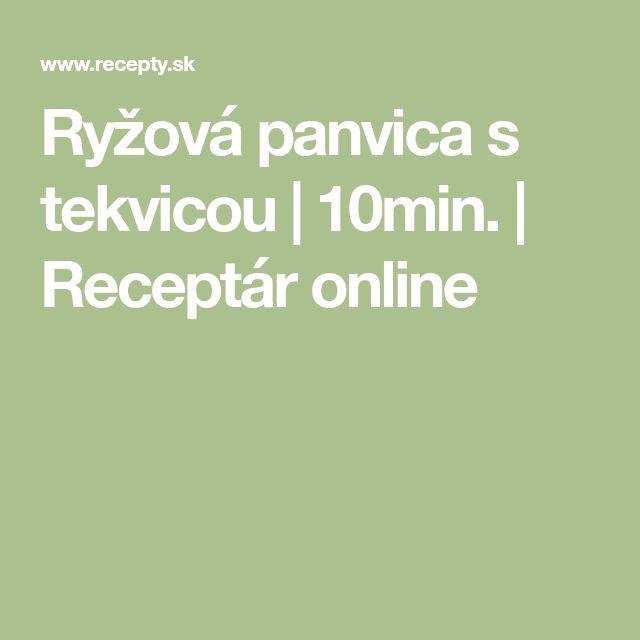 Ryžová panvica s tekvicou | 10min. | Receptár online