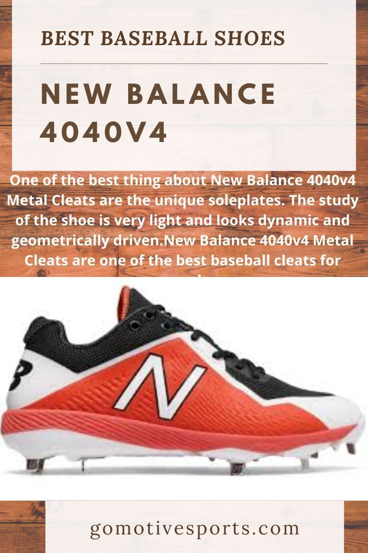 New Balance 4040v4 Baseball Shoes In 2020 Baseball Cleats Baseball Shoes Better Baseball