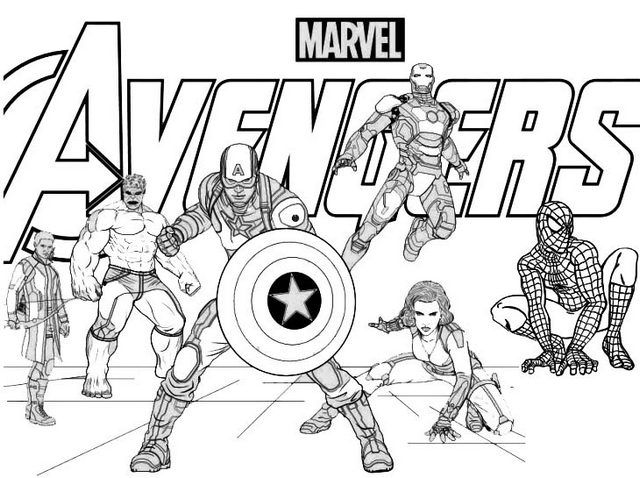 Marvels The Avengers Coloring Page For Fans Captain America Coloring Pages Avengers Coloring Pages Avengers Coloring