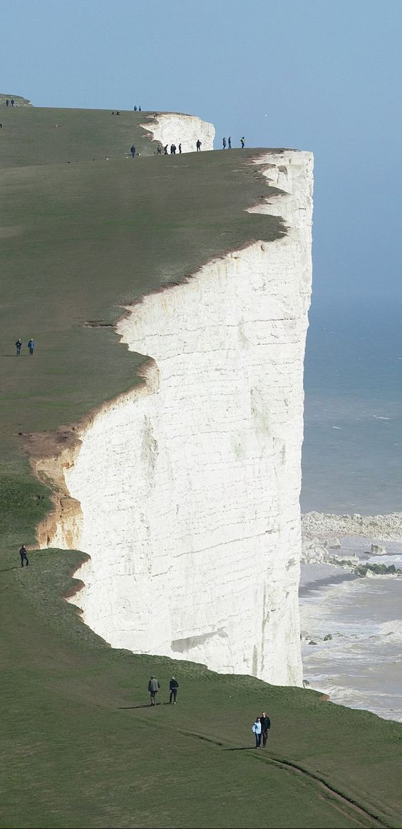 Beachy Head in East Sussex, England. It is situated close to Eastbourne, immediately east of the Seven Sisters.
