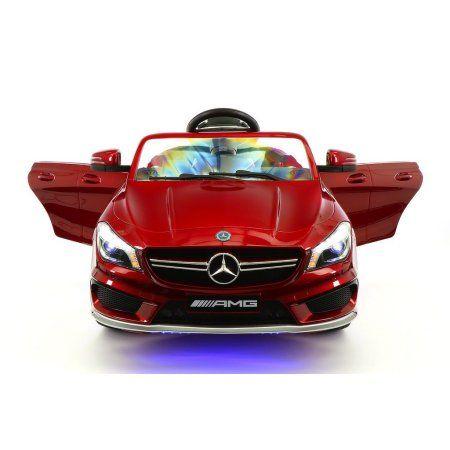 mercedes benz cla45 kids ride on car toy mp3usb12v batpowered wheels rc cherry
