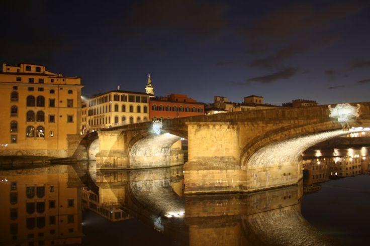 J1 - 7 - St Trinity Bridge (Ponte Santa Trinità) Coucher de soleil du pont ...