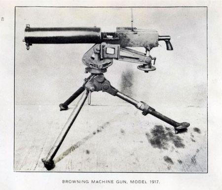 were machine guns used in ww1