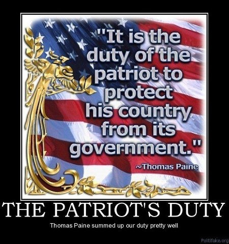 """Thomas Paine quote  --- """"YOU too, can be a Patriot""""!!!!"""