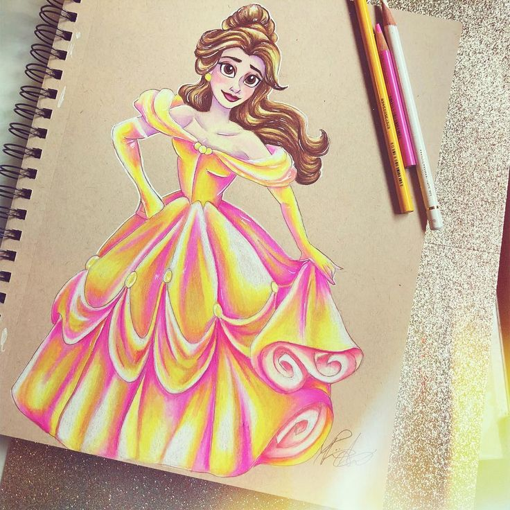Now I want to draw all the Disney Princesses with this ...