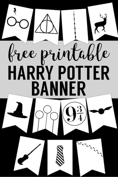 Harry Potter Banner Free Printable Decor Hogwarts Icon For Party