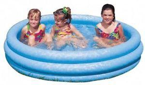 Kinder Pool Planschbecken Kinderpool blau 147 x 33 cm