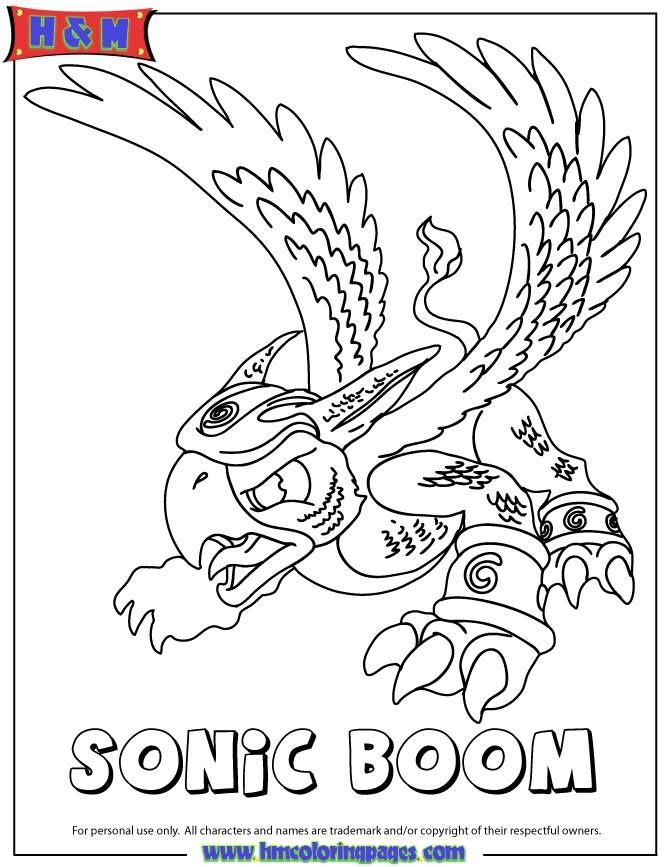 Skylanders Spyros Adventure Air Sonic Boom Coloring Page