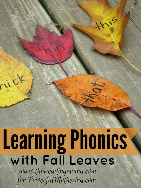 Learning Phonics with Fall Leaves | Powerful Mothering