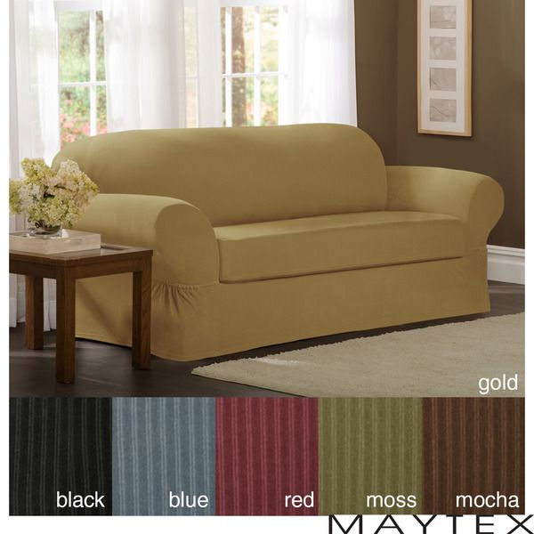 Maytex Collin 2-piece Loveseat Slipcover - Overstock™ Shopping - Big Discounts on Maytex Loveseat Slipcovers