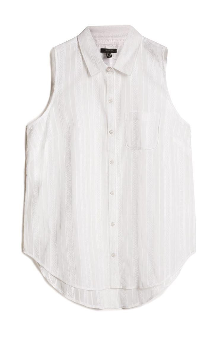 Primark - Ivoorkleurig mouwloze blouse