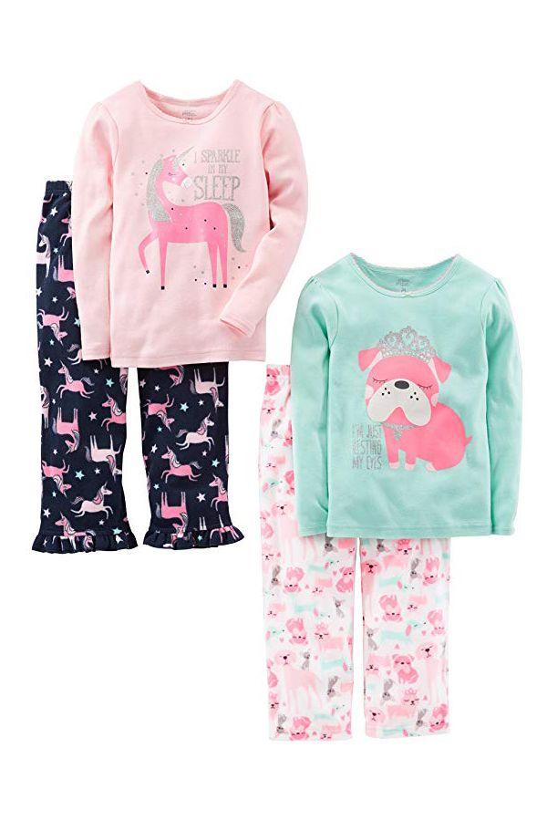 80c6e77781fa Simple Joys by Carter s Girls  Toddler 4 Piece Pajama Set