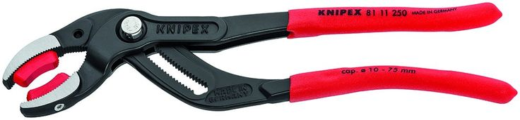 "Knipex Tools 81 11 250 SBA 10"" Pipe and Connector Pliers with Soft Jaws"