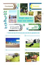 English Worksheets: Choose your holidays in Britain- Reading